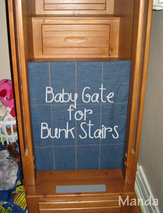 Baby Gate for Bunk Stairs