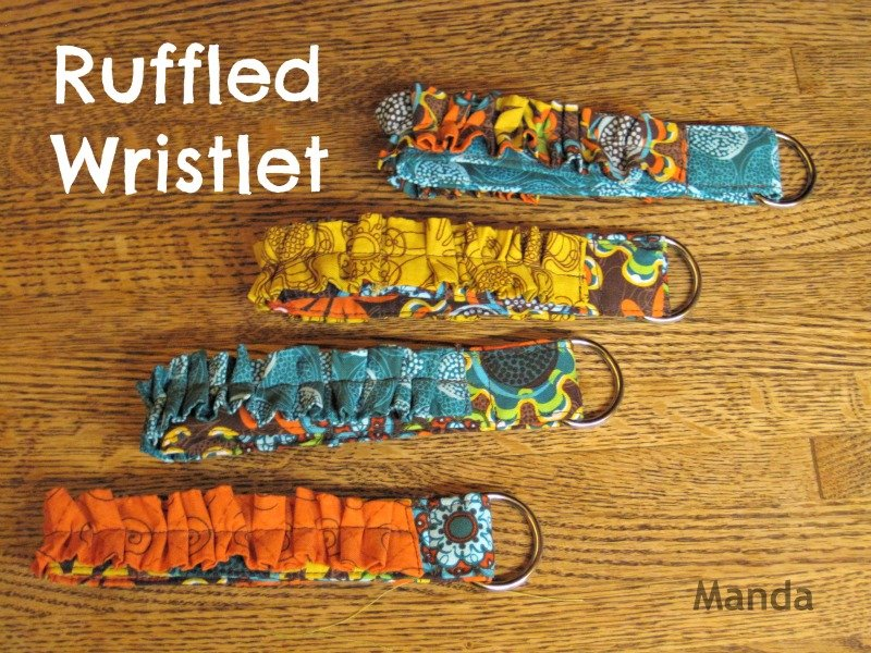 Creative Project – Ruffled Wristlet
