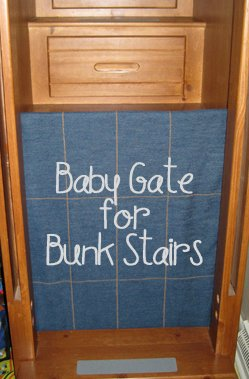 Baby Gate for Bunk Stairs Update